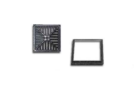Ralo quadrado em ferro fundido de 20x20 na COFERSED