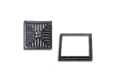 Ralo quadrado de ferro fundido de 25x25 na COFERSED