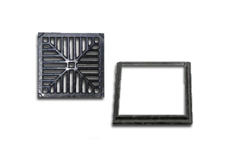 Ralo quadrado em ferro fundido de 30x30 na COFERSED