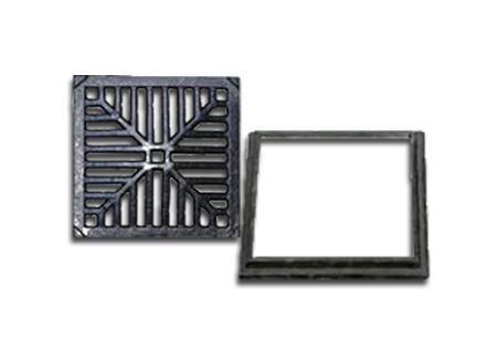 Ralo quadrado em ferro fundido de 40x40 na COFERSED