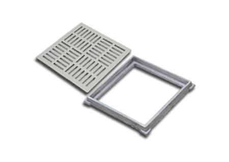 Ralos quadrados em alumínio de diversos tamanhos na COFERSED