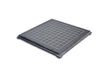 Tampões quadrados simples em alumínio na COFERSED